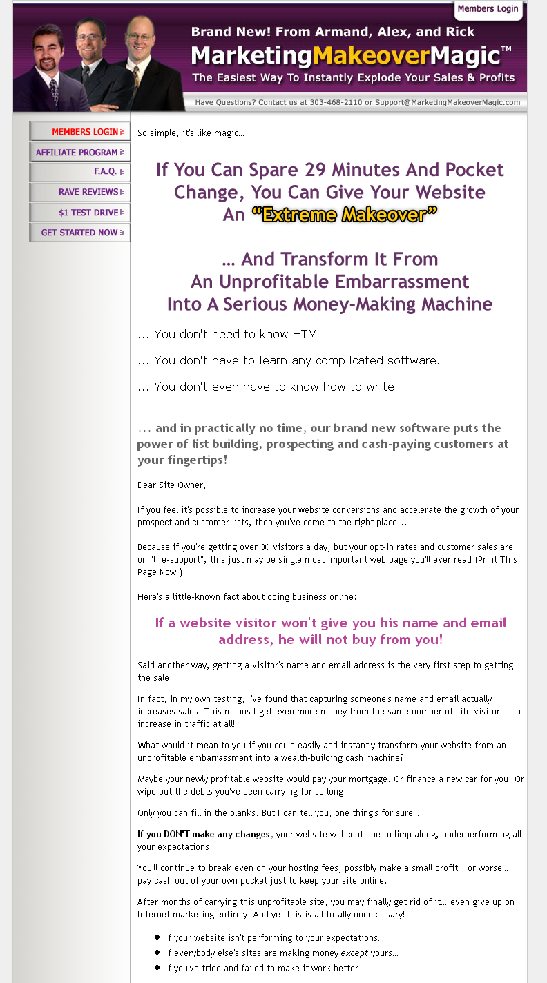 ad copy samples business growth strategies marketing makeover generator alex mandossian hired me to write s letters for three separate product launches including marketing makeover generator