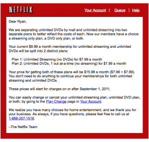 netflix price increase 300x285 How Netflix Could Have Made Bad News Better