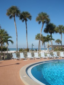 Pool and Beach at Sarasota Surf & Racquet Club