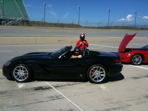 Ryan about to Drive a Dodge Viper