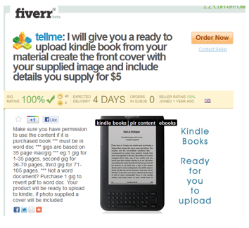 fiverr kindle book cover Results of the Kindle Marketing Experiment