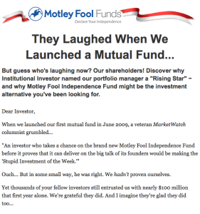 They Laughed When We Launched a Mutual Fund...