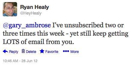 I tweet Gary Ambrose