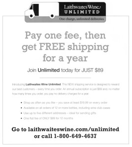 laithwaites wine unlimited shipping 268x300 Laithwaites Wines Takes a Page from Amazon