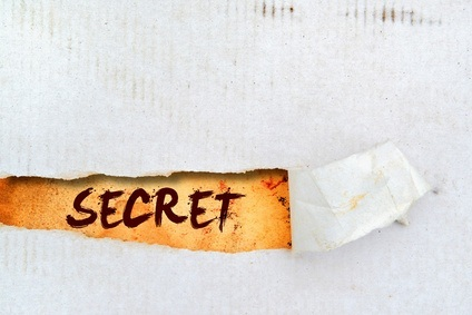 Secret title on old paper